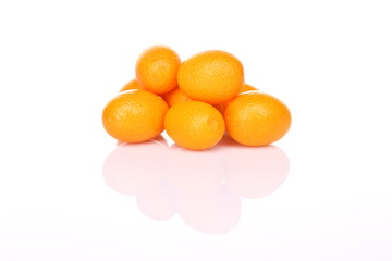 Ripe tangerines with shadow