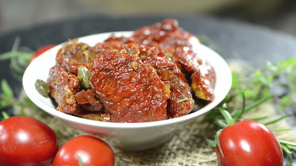 Portion of sun dried Tomatoes (loopable)
