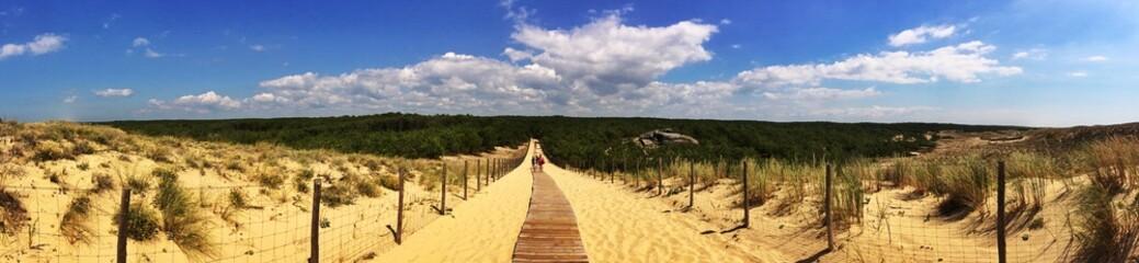 panorama dune du grand crohot - lège