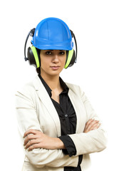 Young woman with protective workwear