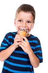 Boy with ice cream