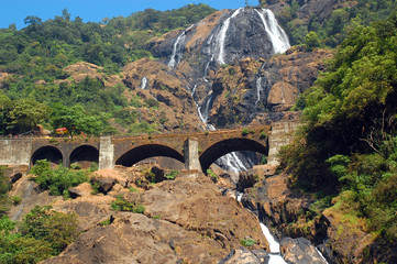 Dudhsagar Waterfalls and Railroad Bridge
