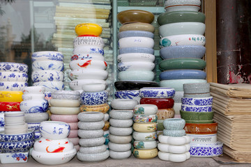 Traditional Chinese ceramic tableware