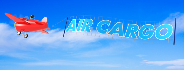 Cartoon Airplanes with Air Cargo Banner