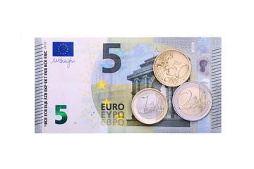 Mindestlohn - Geldschein & Münzen