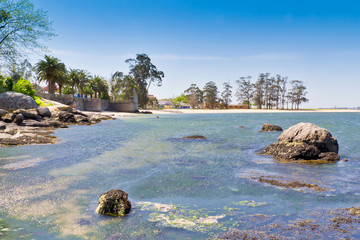 Sinas beach on Vilanova de Arousa