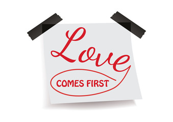Love comes first