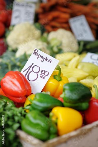 Vegetables at farmers market - 67896253