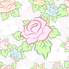 seamless pattern consisting of flowers, vector