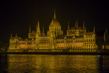 parliament of Hungary at night