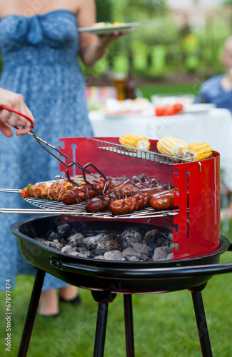 canvas print picture Summer barbecue party