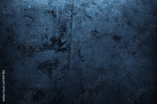 canvas print picture Blue concrete wall