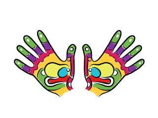 Hands sketch for your design, massage reflexology