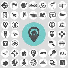 Map icon sets. Illustration eps10
