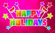 Happy Holidays Greeting Art Paper Card