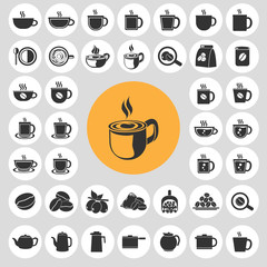 Coffee cup icons set. Illustration eps10