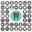 Dental icons set. Illustration eps10