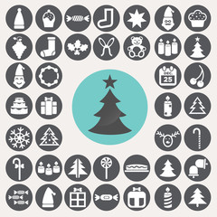 Christmas icons set. Illustration eps10