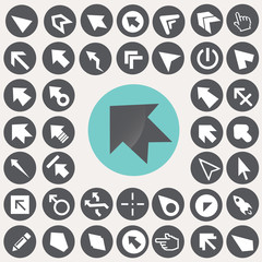 Cursor and pointer icons set. Illustration eps10