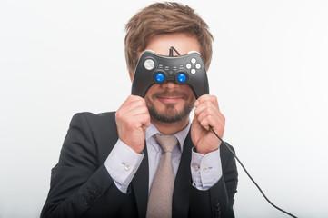man and gaming