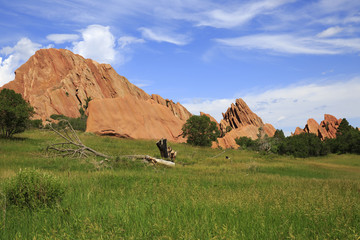 Sandstone formation in Roxborough State Park in Colorado, USA