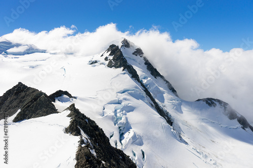 Snowy mountain peak