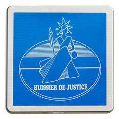 plaque huissier de justice