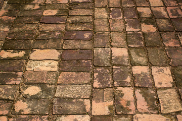 Ancient brick pavement