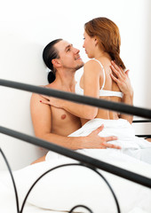 Positive couple  having sex