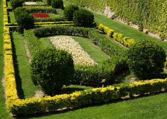 garden  around the Castell de Montjuic