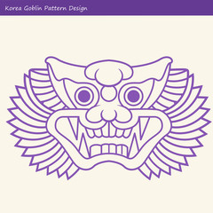 Korea Goblin Pattern Design. Korean traditional Design Series.