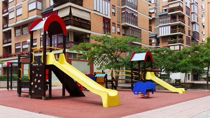 playground  in city street