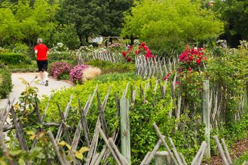 Cervantes Park in Barcelona