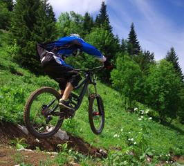 vtt de descente - piste de saint pierre de chartreuse