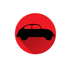 CAR flat  red icon