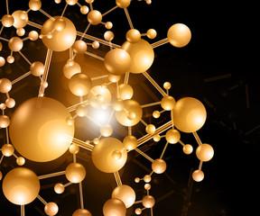 molecule background..