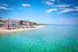canvas print picture - Beautiful Pefkochori beach on Kasandra, Greece.