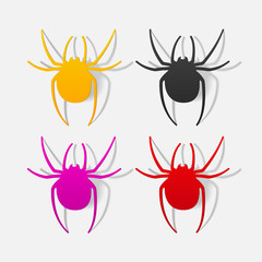 realistic design element: spider