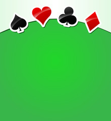 Vector playing cards background