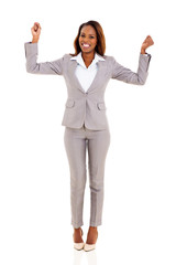 excited african american businesswoman