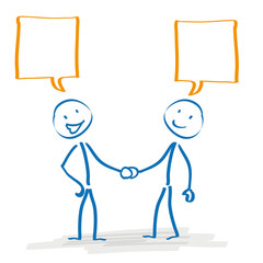 Stickman Handshake Speech Bubbles