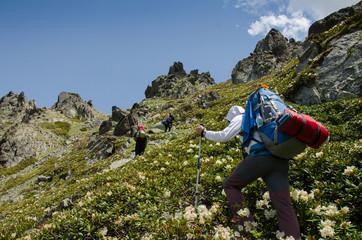 Climbers at kaçkar mountains
