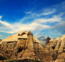 rock landscape at Cappadocia Turkey