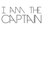 I am the Captain Text Logo