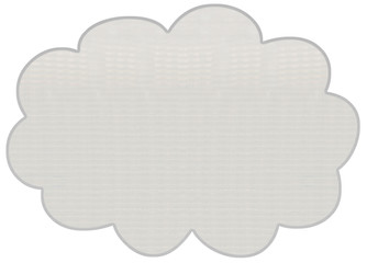 nuage, tôle aluminium panneau signalisation
