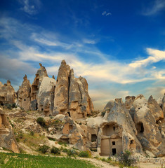 Unique geological formations, Cappadocia, Turkey