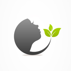 Graphics design icon face leaf
