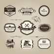 Restaurant or coffee shop menu sign Vintage Frame