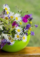 beautiful bouquet of bright  wildflowers