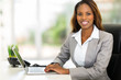 young african american businesswoman using computer - 67903013